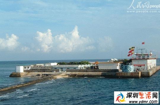 永暑岛主岛的面积同9月底相比有了