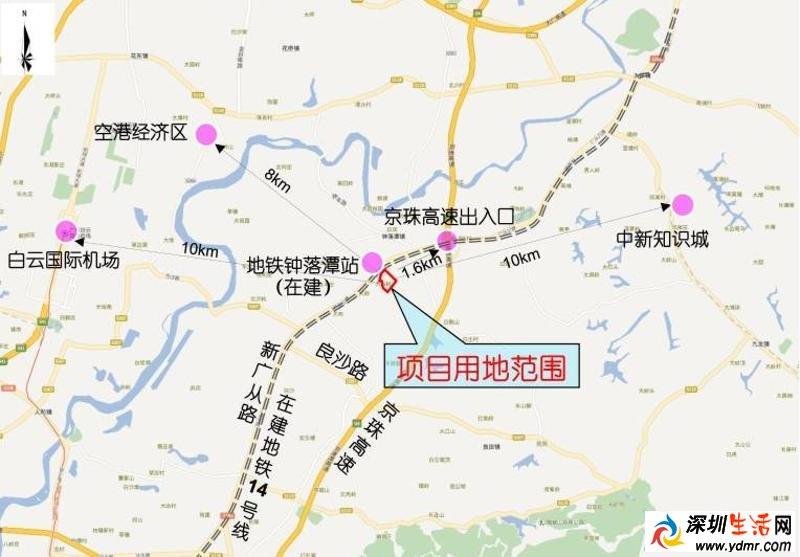 广州地铁11号线15个站点位置线路图汇总图片