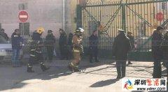 圣彼得堡莫扎伊斯基军事航天学院发生爆炸现场图